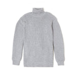 Rib Turtle Neck Knit / GRAY