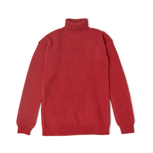 Rib Turtle Neck Knit / RED (19A-NSA-KN-02)