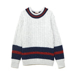 Cable Crew Neck Knit / IVORY