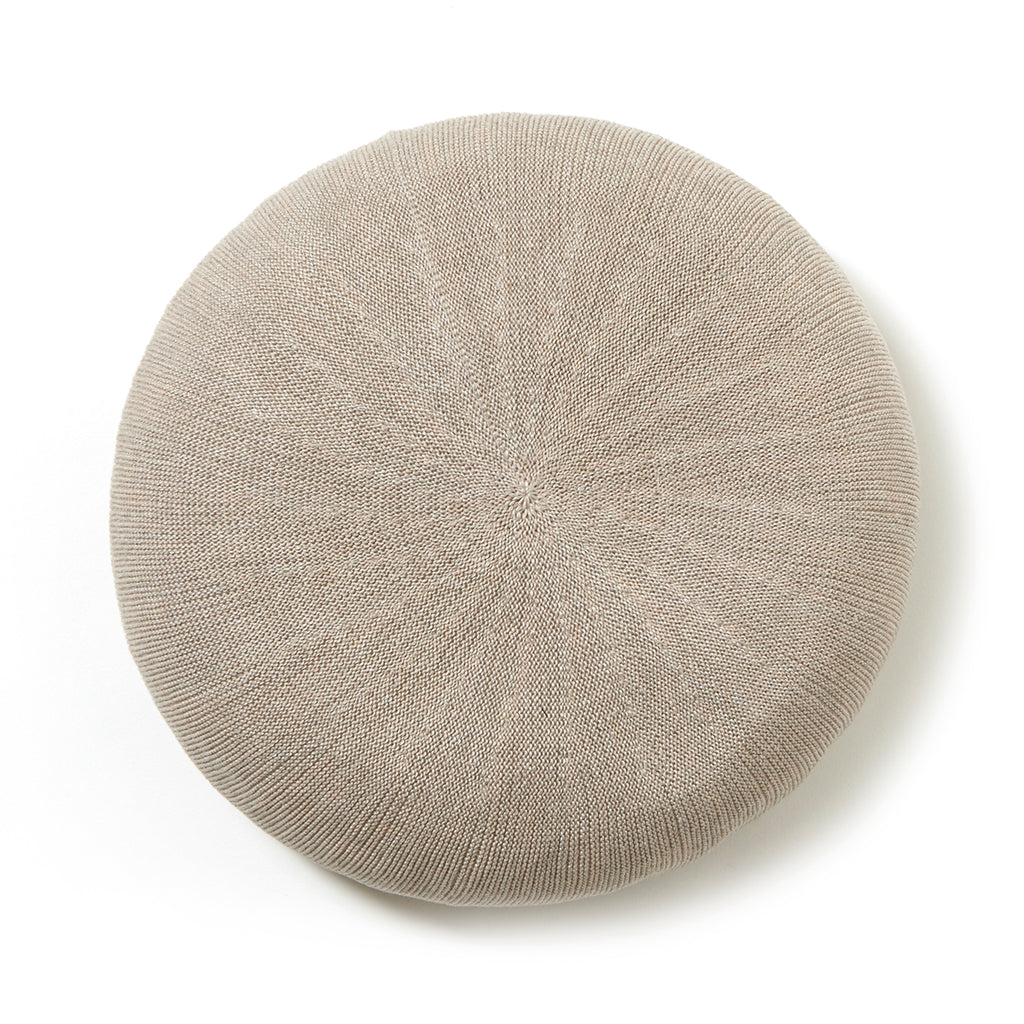 Linen Beret / LIGHT GRAY