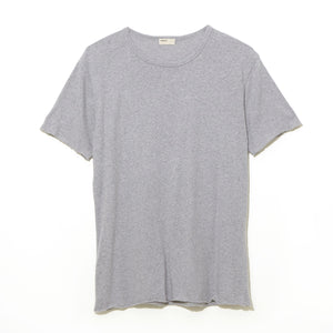 Cotton Silk T-Shirt / GRAY
