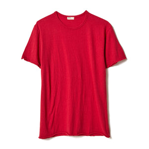 Cotton Silk T-Shirt / RED