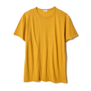 Cotton Silk T-Shirt / YELLOW