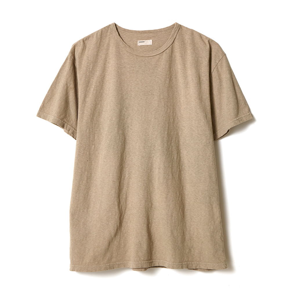 Organic Dyed T-Shirt / BEIGE