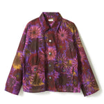 Flower Pattern Shirt Jacket / PURPLE