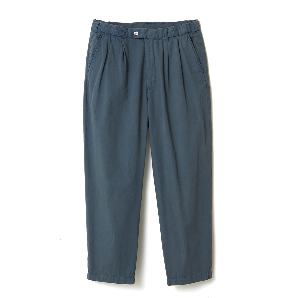 Organic Dyed Pleated Pants / GRAY