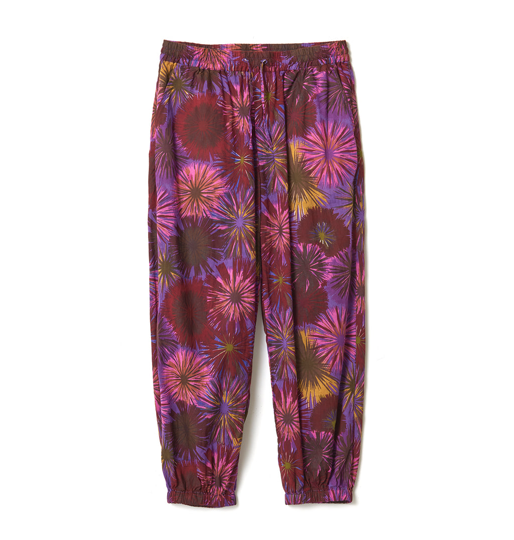 Flower Pattern Wide Pants / PURPLE