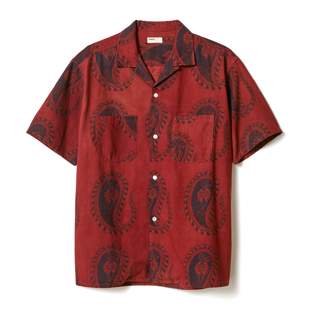 Organic Dyed Paisely Shirt / RED