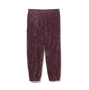 Linen Velour Pants / BURGUNDY
