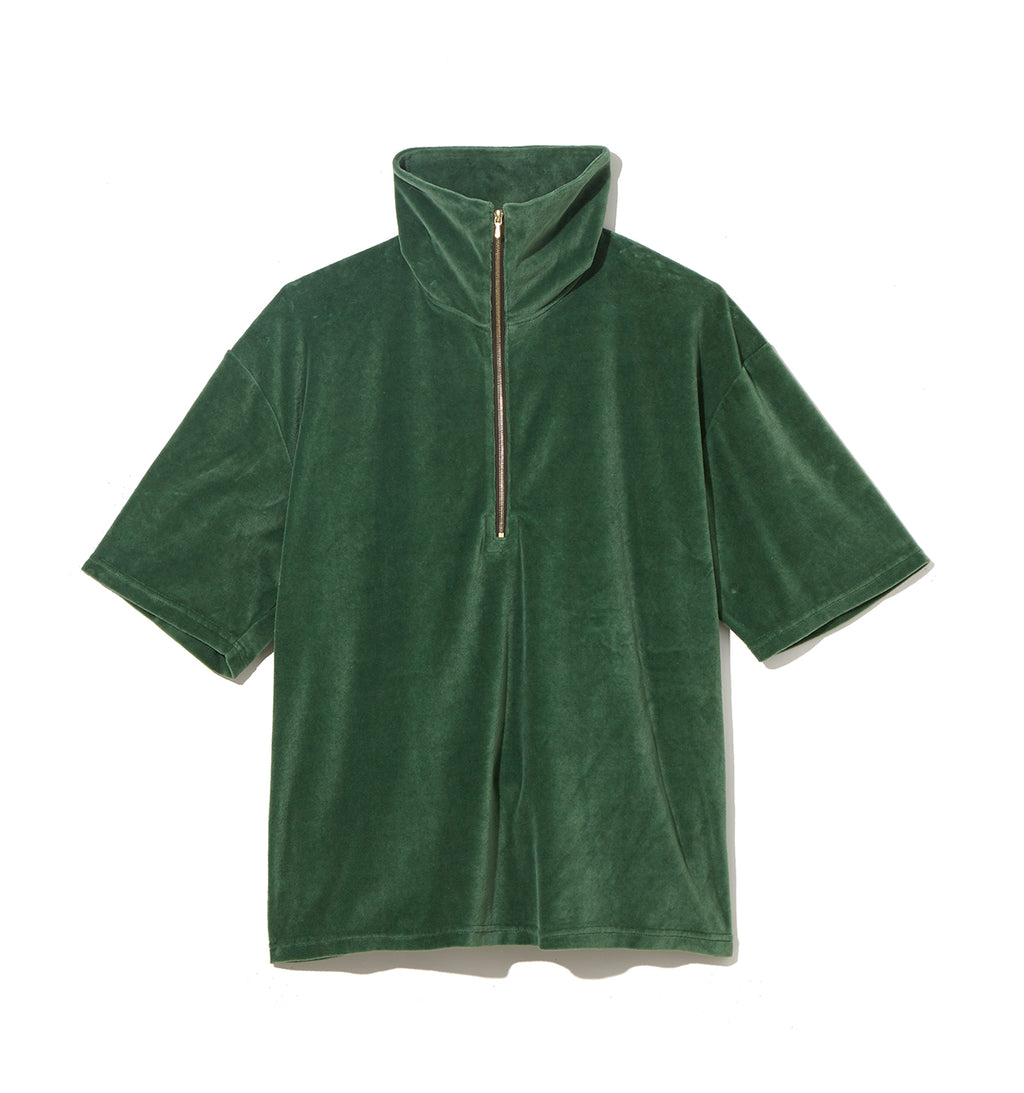 Pile Half Zip Cut-Sewn / GREEN (20S-NSA-CS-07)