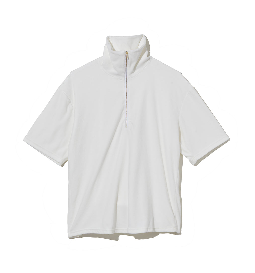 Pile Half Zip Cut-Sewn / WHITE (20S-NSA-CS-07)