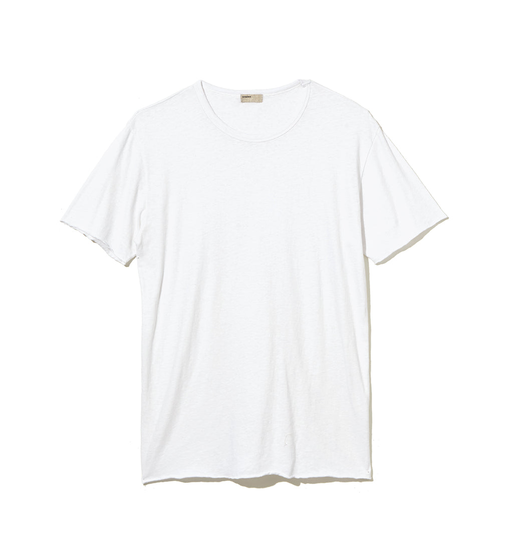 Cotton Silk T-Shirt / WHITE (20S-NSA-CS-13)