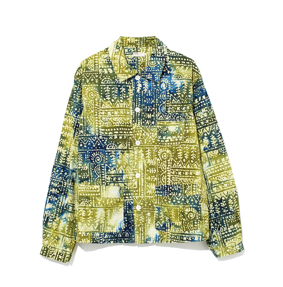 Pattern Shirt Jacket / GREEN