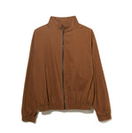 Organic Cotton Zip Up Blouson /  BROWN
