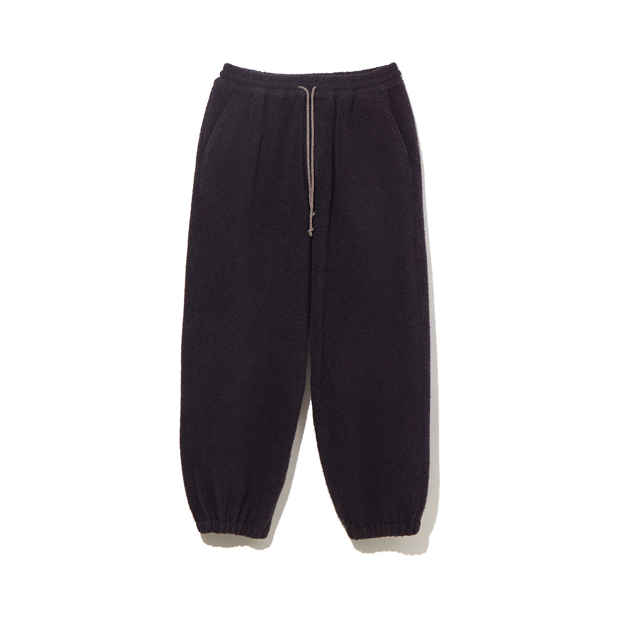 WOOL PILE PANTS / BLACK (21A-NSA-CS-02)