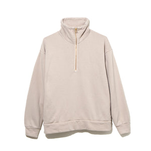 HALF ZIP TURTLE NECK / BEIGE (21A-NSA-CS-03)