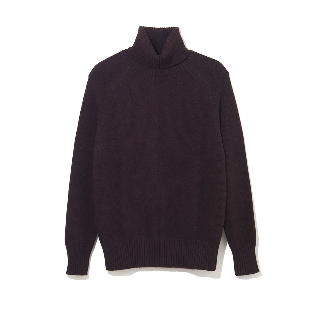 TURTLE NECK KNIT by MAISON MONTAGUT / BLACK (21A-NSA-KN-01)