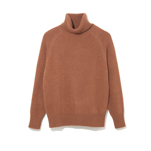 TURTLE NECK KNIT by MAISON MONTAGUT / CAMEL (21A-NSA-KN-01)