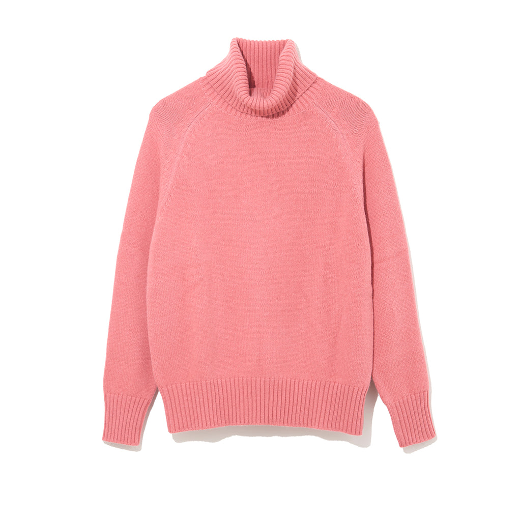 TURTLE NECK KNIT by MAISON MONTAGUT / PINK (21A-NSA-KN-01)