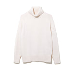 TURTLE NECK KNIT by MAISON MONTAGUT / WHITE (21A-NSA-KN-01)