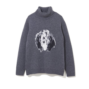 ILLUSTRATION TURTLE NECK KNIT C by Jody Asano / GRAY (21A-NSA-KN-04)