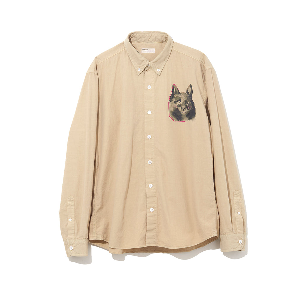 ILLUSTRATION SHIRT B by Jody Asano / BEIGE (21A-NSA-SH-03)