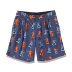 INDIAN COWBOY PRINTED SHORTS  / NAVY (21S-NSA-PT-09)