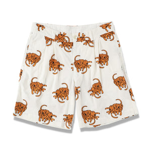 TIGER PRINTED SHORTS / WHITE (21S-NSA-PT-10)