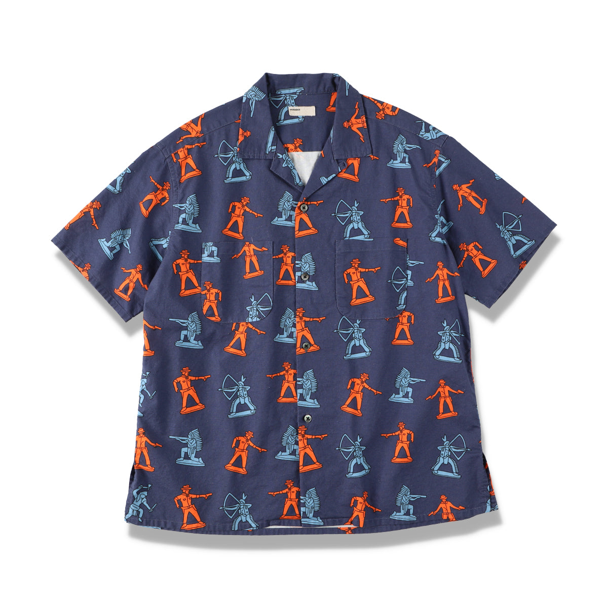 INDIAN COWBOY PRINT HS SHIRT / NAVY (21S-NSA-SH-06)