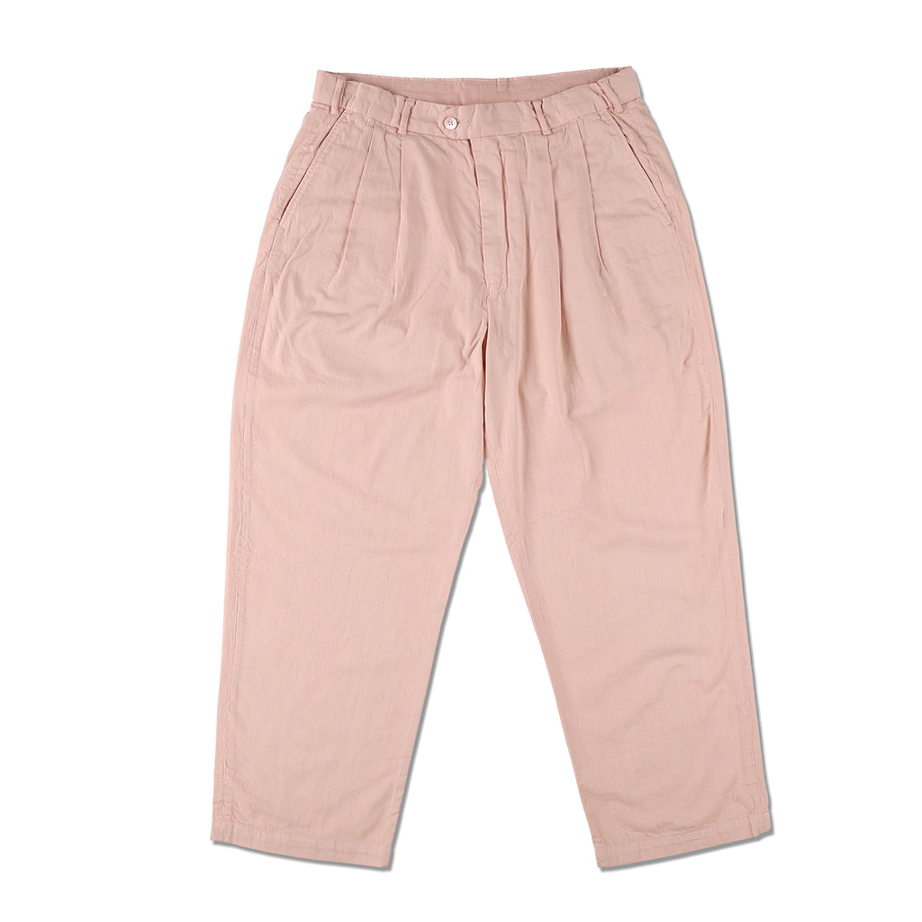 Organic Dyed Pleated Pants / PINK