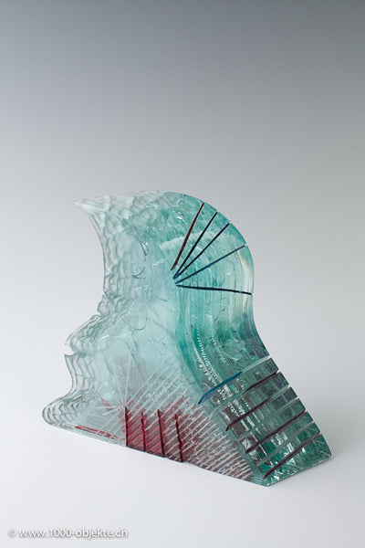 Multilayered object. Javier Gomez 1990, signed.