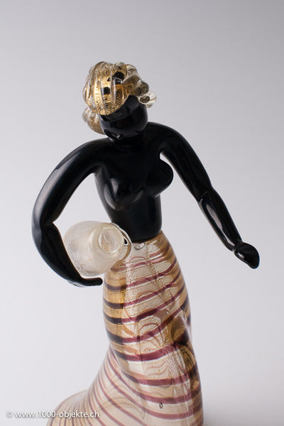 "Barovier & Toso. ""Nubian Water Carrier"", 1950."