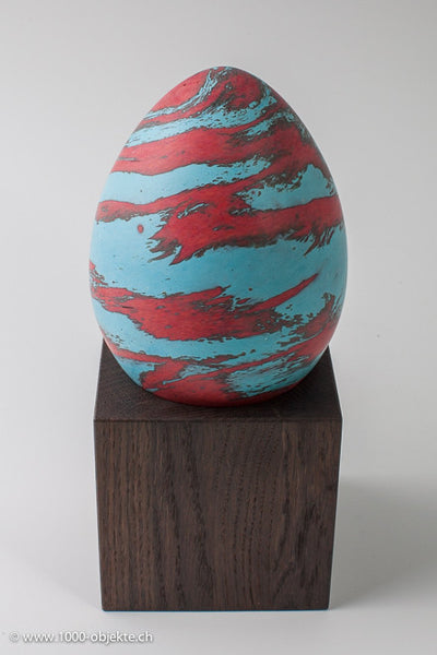 Egg for Anfora. Original Art Glass Object.