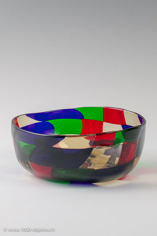 Fulvio Bianconi for Venini, a glass 'Pezzato'bowl