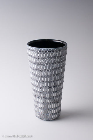 "Massimiliano Pagnin ""BIBE"" vase black and white, 2002, signed"