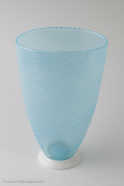 "Dino Martens for Aureliano Toso. Vase ""Mezza filigrana""."