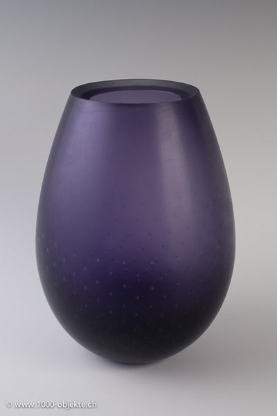 "Murano Vase ""Bulicante"" purple by Giorgio Vigna for Venini"