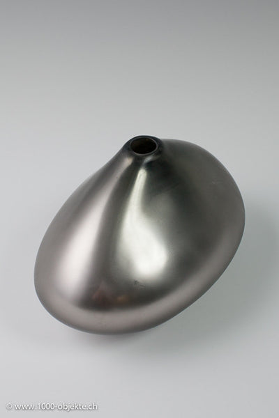 """Silvervase"". Studio-glass by Thomas Blank."