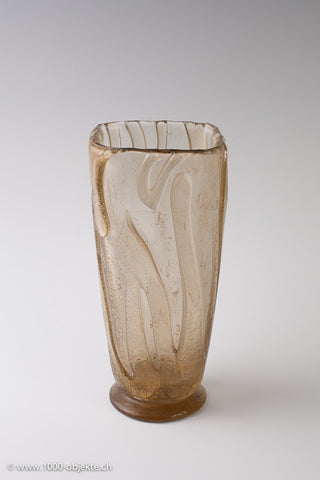 Barovier & Toso. Vase corroso and gold