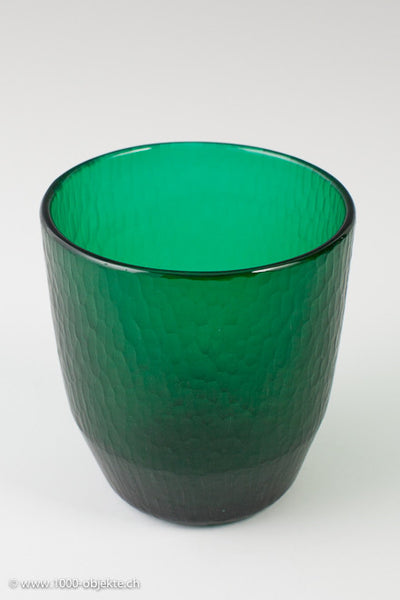 Carlo Scarpa for Venini. Vase battuto acid signed