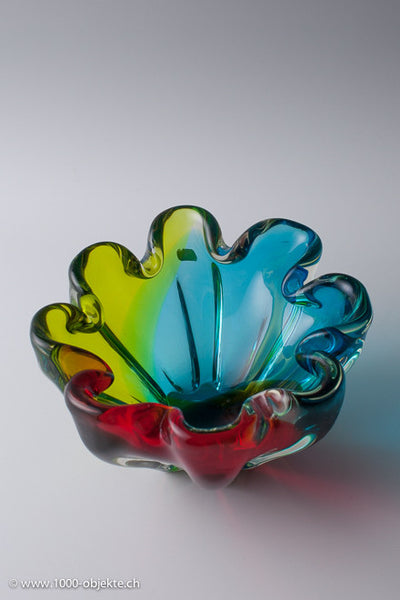"Murano ""tre-colorato"" Bowl from Seguso 60's"