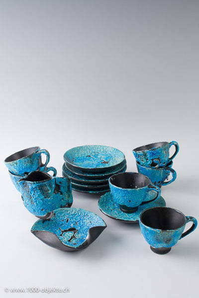 Ceramic coffee / tea set. Unique pieces