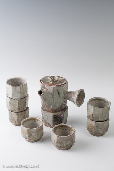 Studio ceramic by Monika Herbst. Japanese tea-Set from major collection