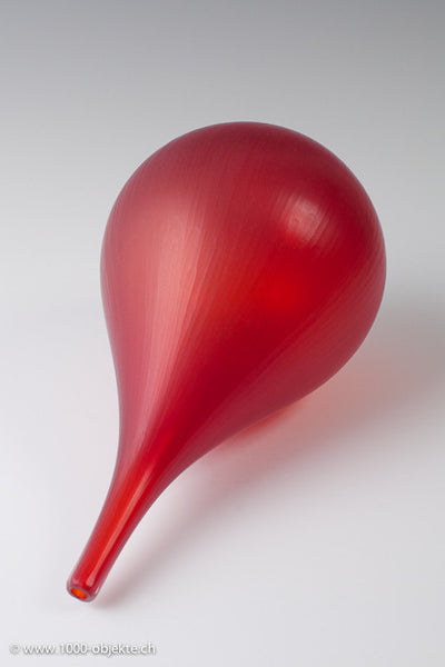 """Red battuto-vase"" by Thomas Blank"
