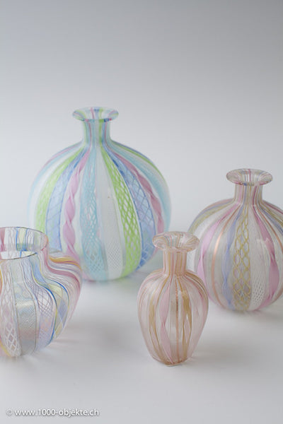 Set of 4 vintage Muranovases from the 50's