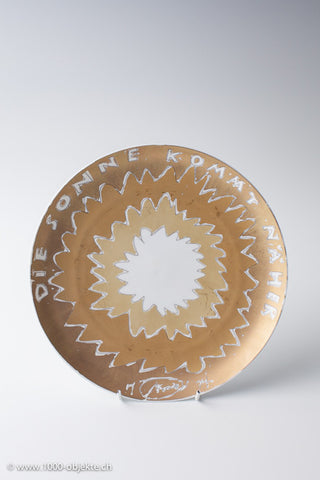 Rosenthal artistplate Otto Piene 1974 limited