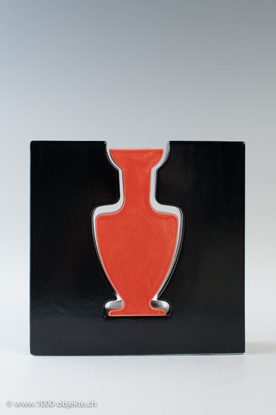 Two in One - Porzelain Vase with Label  Evasi