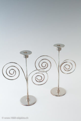 Lino Sabatini, Pair of Candlesticks, around 1970