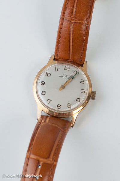 "Beautiful classic ""Glycine"" hand-wound watch circa 1940"