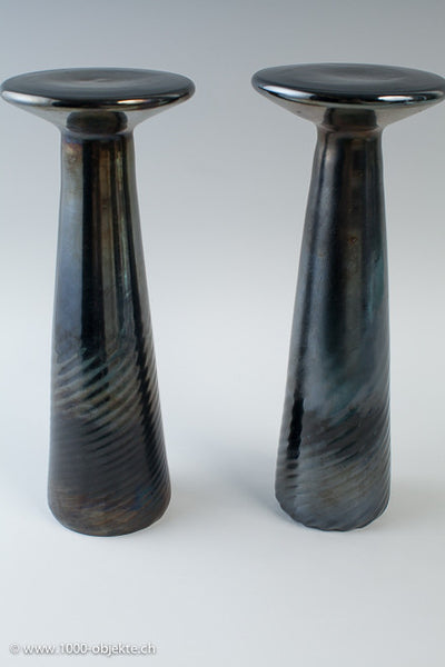 2 huge nerox candlesticks Cenedese.